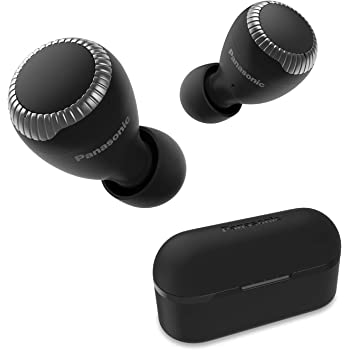 Panasonic True Wireless Earbuds   Bluetooth Earbuds IPX4 Water Resistant   Small, Lightweight   Long Battery Life, Alexa Compatible   RZ-S300W (Black)