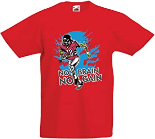 Inspirational Football Quotes Zombie Football Player lepni.me Shirts for Men No Brain No Gain