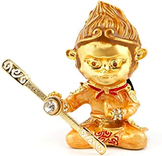 Cococart Monkey King Car Perfume Vent Clip Air Freshener Diffuser Zinc Alloy Great Hero Sun Wukong Automobiles Smell Decorative (Gold)
