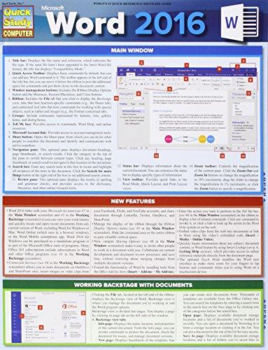 Microsoft Word 2016 (Quick Study Computer)