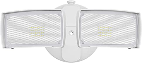 LEPOWER 3000LM LED Flood light Outdoor, Switch Controlled LED Security Light, 28W Super Bright Exterior Lights with 2 Adjustable Head, 5500K, Full Metal Design, IP65 Waterproof for Garage, Yard, Patio