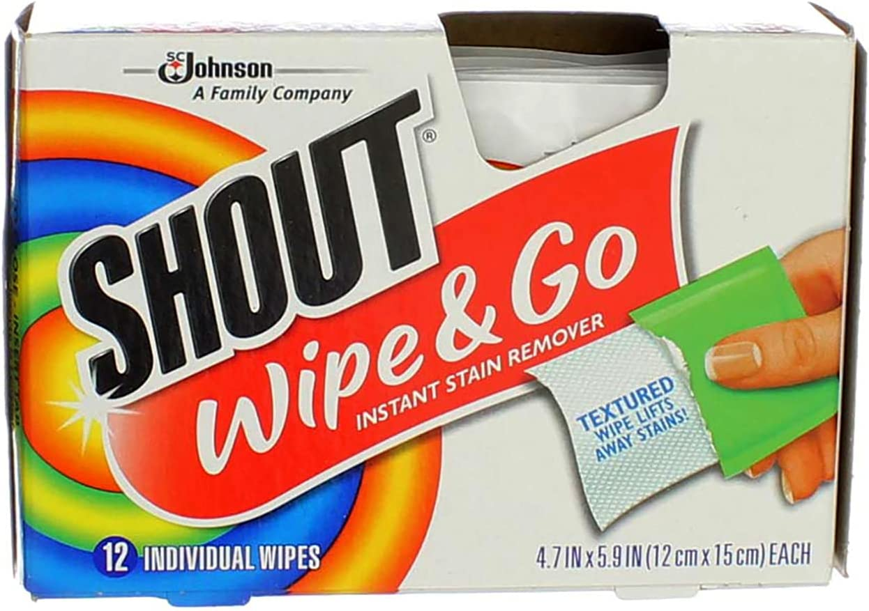 Shout Wipe Go Instant New products, world's highest quality popular! Stain Remover Wipes of sold out ea Pack 2 12