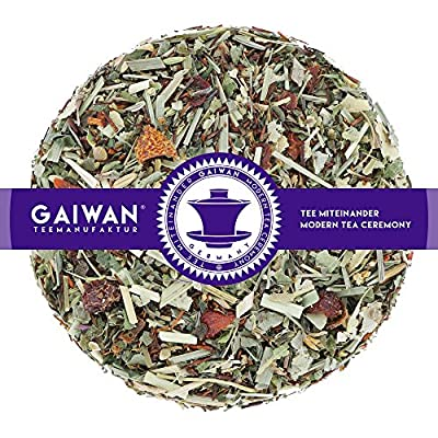 """N° 1245: Thé aux herbes """"Fraîcheur de l'été"""" - feuilles de thé - GAIWAN® GERMANY - rooibos, gratte-cul, citronnelle, fenouil, menthe poivrée, phillyrea angustifolia, mûre, fraises, vanille"""