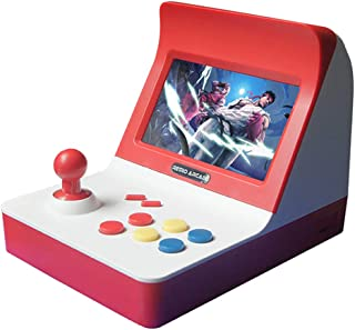 LUCKY ミニアーケードゲーム機 A8  3000種ゲーム贈 互換機 コントローラー付き 多機能レトロゲーム機 (赤)