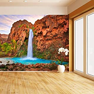 HIMURAL Havasu Falls Self Adhesive Peel and Stick Wallpaper Self Stick Mural Photos Home Wall Paper Sticker Wall Mural Decals Fresco Posters Removable