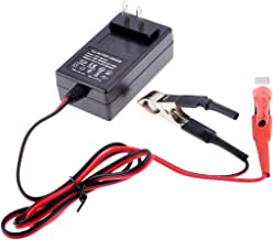 PeleusTech® Battery Charger, 12V 14.4V 1A Portable Lead Acid Battery Smart Charger Maintainer - Black