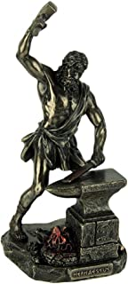 Veronese Design Resin Statues Hephaestus Greek God of Fire and Forge Bronze Finished Statue 4 X 8.5 X 4 Inches Bronze