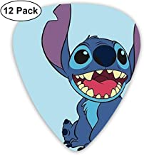 CHLING Lilo and Stitch Guitar Picks, 12 Pack Stylish Colorful Guitar Gift for Bass Electric and Acoustic Guitars