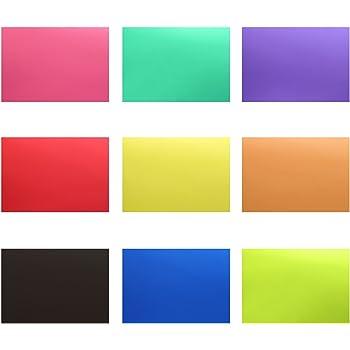Neewer 12x8.5inch/ 30x20cm 補正ジェルライトフィルター 透明色 18枚 9色:赤/青/ピンク/青緑/紫/オレンジ/緑/黄色/黒色 写真スタジオ、ストロボ、フラッシュ、LEDライトに対応