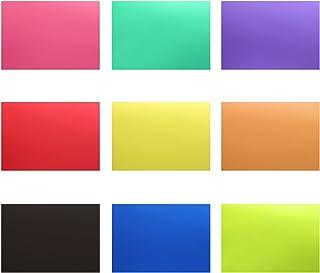 Neewer Korrigering gelljusfilter transparent färg 30 x 20 cm 18 stycken med 9 färger: röd blå rosa cyan lila orange grön g...