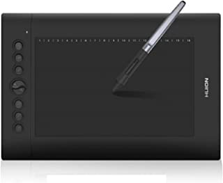 HUION H610PRO V2 Painting Drawing Pen Graphics Tablet with Battery-Free Stylus Tilt Function and 8192 Pressure Sensitivity...