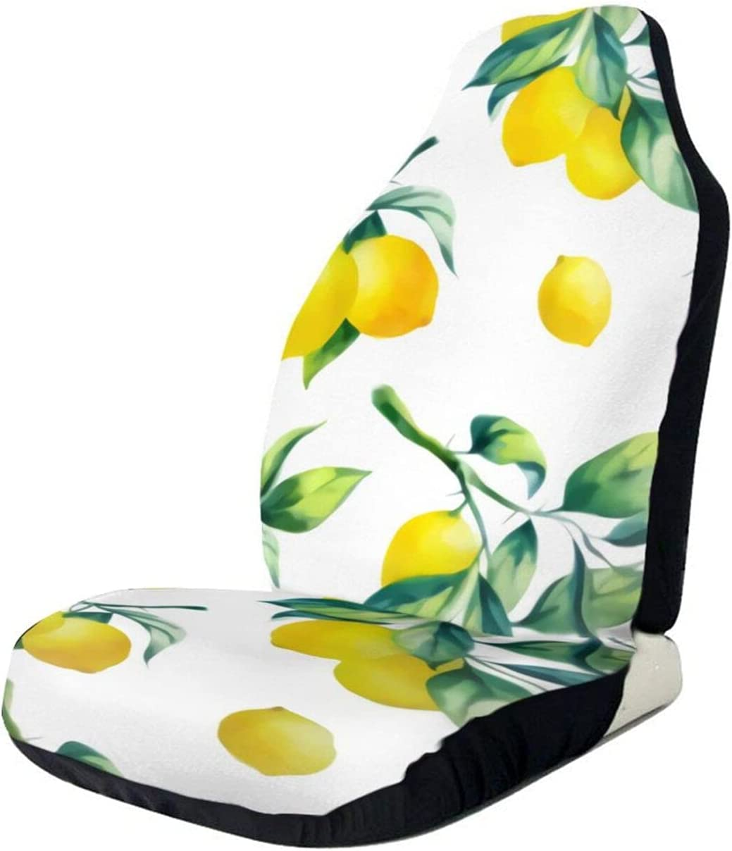 Car Seat Covers Watercolor Lemons Cheap mail order shopping Front Cover 1 In a popularity Pcs Vehicle