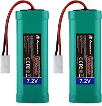 Powerextra 2 Pack 7.2V 3600mAh High Capacity 6-Cell NiMH Battery Packs with Standard..