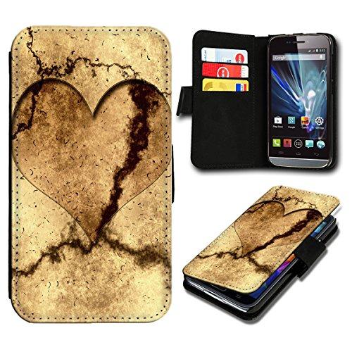 sw-mobile-shop Book Style Huawei Ascend Y635 Premium PU-Leder Tasche Flip Brieftasche Handy Hülle mit Kartenfächer für Huawei Ascend Y635 - Design Flip SB593