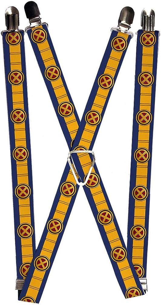 Buckle-Down unisex adult Buckle-down - X-men Cyclops Suspenders, X-men Cyclops, 3.5 x 2.5 US
