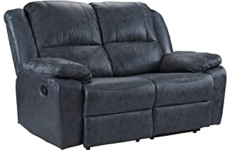 Casa Andrea Oversize 56 inch Air Leather Recliner Living Room Loveseat Sofa (Grey)