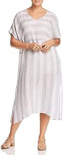 Womens Linen Striped Caftan Dress
