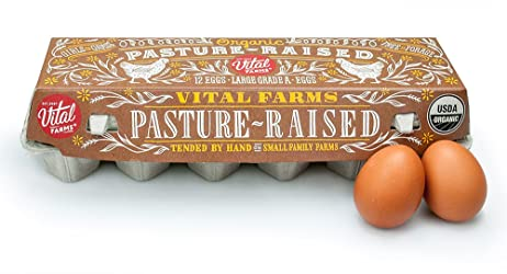 Vital Farms,  Pasture Verde, Organic Pasture Raised Grade A Large Eggs, 12 ct, 1 dozen