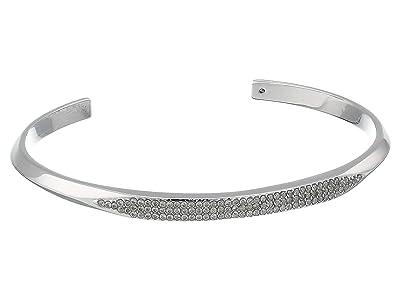 Kate Spade New York Raise The Bar Pave Cuff (Clear/Silver) Bracelet
