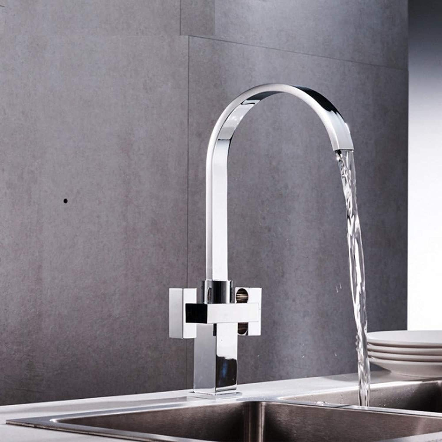 Dwthh 360 Degree redation Brass Drinking Filtered Water Kitchen Faucet Bend Double Right Angle Right Angle Faucet Kitchen Sink Tap
