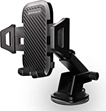 Universal Car Phone Mount | Dashboard & Windshield Car Phone Holder | Carbon Panel - Compatible with iPhone Xs | Xs Max | XR | X | 8 | 8+ | 7 | 7+ | 6 | 6+, Galaxy S10 | S10+ | S9 | S9+ | S8 | S8+