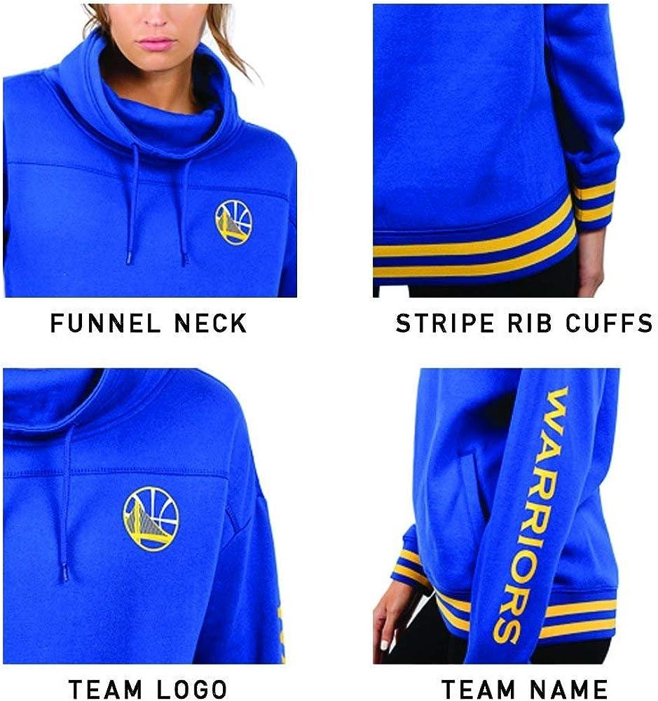 Ultra Game NBA Womens Fleece Pullover Sweatshirt Funnel Neck