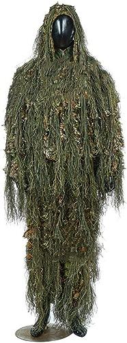 ATR Costume de Camouflage Cape, Feuilles 3D, Convient à la Photographie d'animaux Sauvages d'armes à feu de Chasse Militaire Camo, Couleur Jungle