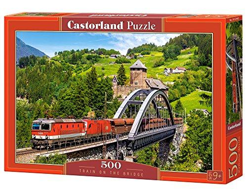 Castorland B-52462 Puzzel Train on The Bridge, 500 delen, veelkleurig