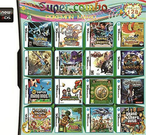 Jeu à Grande échelle 208 en 1 - Compilations de Cartes NDS Game Pack Carte de Cartouche de Jeu vidéo DS - pour NDS DS Nouveau 3DS XL