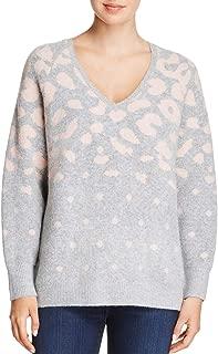 JOHN & JENN Womens Melanie Knit Printed V-Neck Sweater