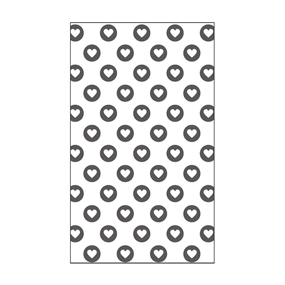 Vaessen Creative Mini Embossing Folder, Full of Heart, for Adding Texture and Dimension to Scrapbook Pages, Cards and Other Papercraft Projects, 3 x 5 inches