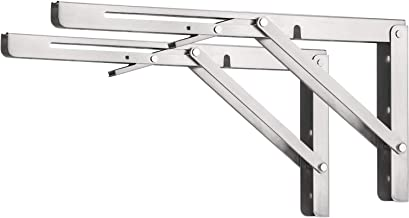 Razorri Comodo Klapconsole, zware belasting, 350 mm, roestvrij staal, klapconsoles, tafel, opklapbare plankhouder, plankdr...