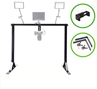 Glide Gear OH100 Professional Metal Overhead Table Top Mount Stand Photography Studio DSLR Video Camera iPhone Top Down Platform