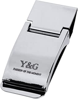 Y&G Men's Fashion Slim Wallet Stainless Steel Money Clip Simple Style