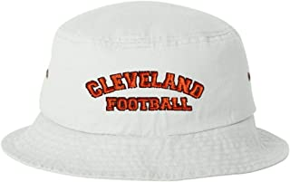 Adult City of Cleveland Ohio Football Embroidered Bucket Cap Dad Hat