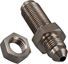 Stainless Steel -3 AN Male to -3 AN Male Flare Bulkhead Brake Hose Fittings with AN3 Stainless Bulkhead Lock Nut