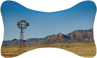 ALUONI Windmill Decor Durable Car Headrest Pillow,Flinders Ranges South Australia Mountains Barren Land Summer Decorative for Car,10.2