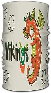 Headband Dragon Print Vikings Age Magic Scarf Head Wrap Neck Gaiter
