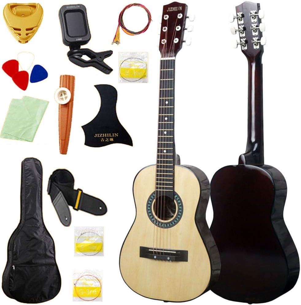 MSHK Guitarra Acústica Clásica De Estilo Español con Cuerdas Paquete De Guitarra Acústica con Correas Tipo Mochila Y Bolsillo para Partituras/Accesorios,C