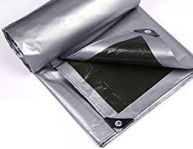 Wang Heavy Duty dekzeil PE plastic schaduwdoek 100% waterdicht 160g/m² grond camping tent cover met oogjes kwaliteit cover...