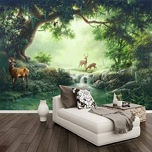 Bos eland olieverfschilderij wandschilderij behang woonkamer tv sofa cafe achtergrond wandpapier Home Decor wandschilderijen (H)400*(B)280cm Pro