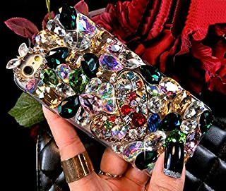 1 piece Luxury 3D Color Diamond Case Rhinestone Bling Phone Cover Crystal fundas coque for iPhone X 8/7/7 Plus 6S/6 Plus 5S 5 SE 5C 4S 4