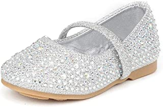 DREAM PAIRS Girl's SERENA-100 Mary Jane Casual Slip on Ballerina Flat (Toddler)