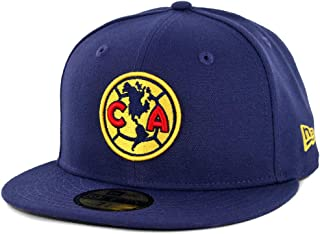 Navy New Era 59Fifty Club America Official Fitted Hat Men/'s Aguilas Soccer Cap