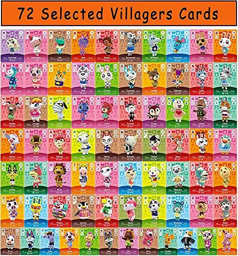 72 tarjetas de juego NFC Tiny Mini para Animal Crossing New Horizons Switch/Switch Lite/Wii U/Nuevo sistema 3DS (72 piezas)