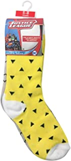 Batman Bamboo Cotton Sock - Printed (Pack of 3) - Yellow/Grey/Black 5-8Y