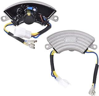 Fafeicy AVR 2KW Regulador de voltaje del generador, regulador de voltaje monofásico Piezas del generador de gasolina con carcasa de aluminio, voltaje de salida de 100 VDC