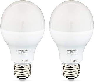 Amazon Basics - Lampadina a LED E27 con attacco Edison, 14 W (equivalente a 100 W), bianco caldo, confezione da 16
