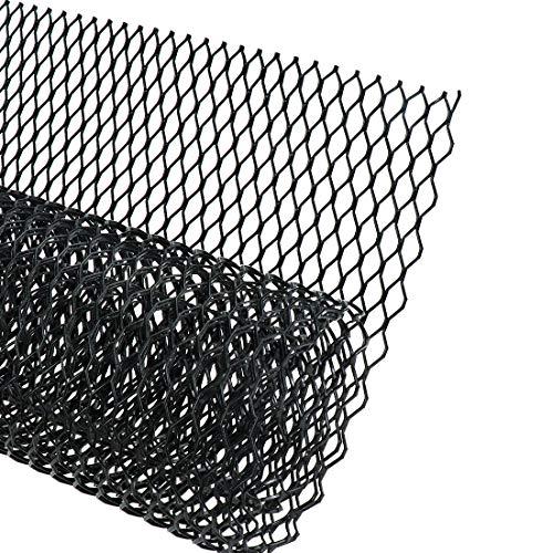 AUTOT 40 x 13 inch Car Grill Mesh Sheet, Black Painted Aluminum Alloy Grille Mesh Roll, 11 x 25 mm Hexagon-Shape Grids