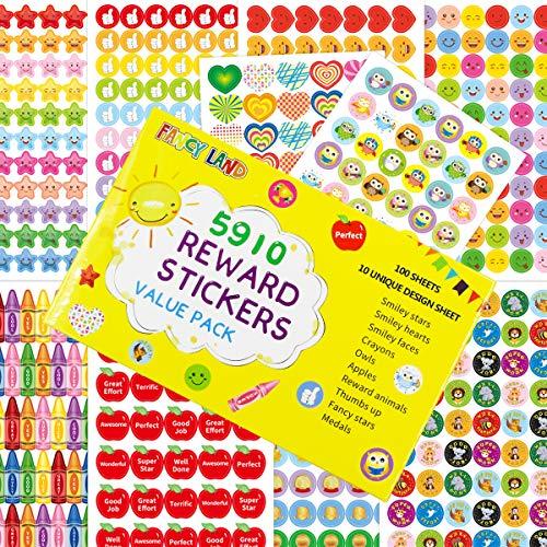 5910 Teacher Stickers for Kids Mega Varity Pack Reward Stickers Incentive Class Supplies